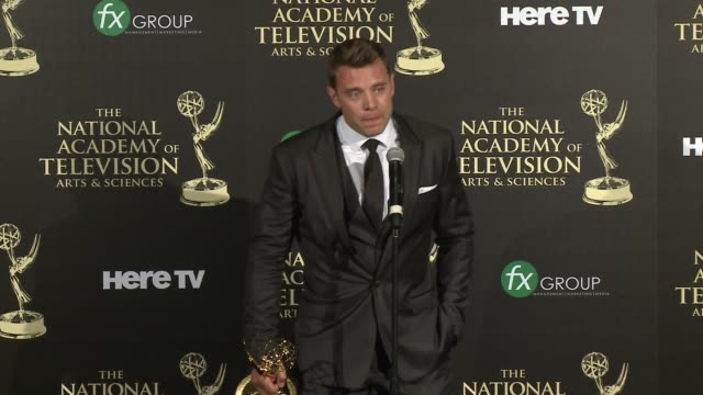 SPEECH Billy Miller at the 2014 Daytime Emmy Awards Press Room at The Beverly Hilton Hotel on June 22 2014 in Beverly Hills California