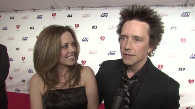 billy morrison and wife, jennifer morrison, on the event, the music of neil diamond at the musicaresr 2009 person of the year tribute at los angeles... - tribute event stock videos & royalty-free footage