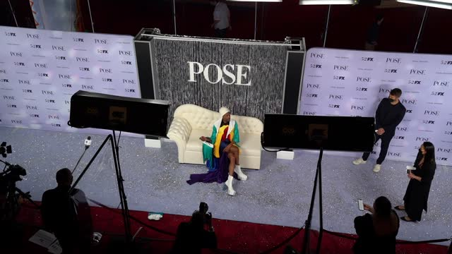 """billy porter at fx's """"pose"""" season 3 new york premiere at jazz at lincoln center on april 29, 2021 in new york city. - premiere event stock videos & royalty-free footage"""