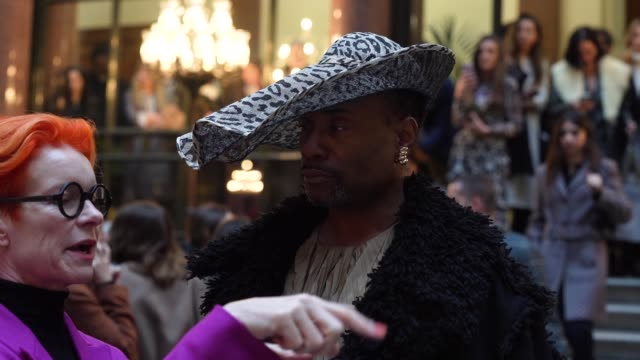 billy porter at london fashion week a/w 2020 - roksanda at british foreign and commonwealth office on february 16, 2020 in london, england. - arts culture and entertainment stock videos & royalty-free footage