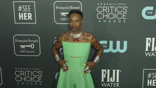 billy porter at the 25th annual critics' choice awards at barker hangar on january 12 2020 in santa monica california - gif stock videos and b-roll footage