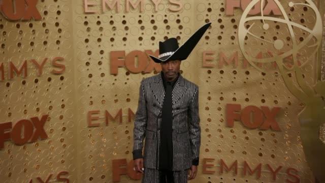 vídeos y material grabado en eventos de stock de billy porter at the 71st emmy awards - arrivals at microsoft theater on september 22, 2019 in los angeles, california. - premios emmy