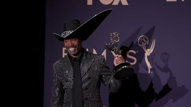 billy porter at the 71st emmy awards - press room at microsoft theater on september 22, 2019 in los angeles, california. - emmy awards stock videos & royalty-free footage