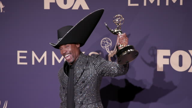 vídeos y material grabado en eventos de stock de billy porter at the 71st emmy awards - press room at microsoft theater on september 22, 2019 in los angeles, california. - premios emmy