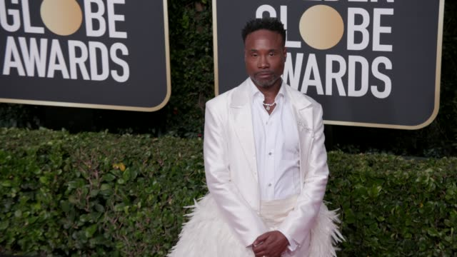 vidéos et rushes de billy porter at the 77th annual golden globe awards at the beverly hilton hotel on january 05, 2020 in beverly hills, california. - golden globe awards