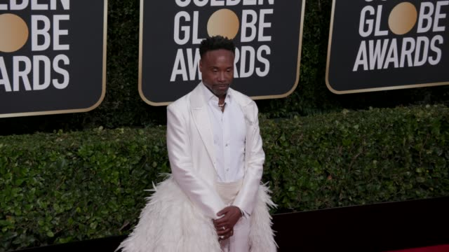 stockvideo's en b-roll-footage met billy porter at the 77th annual golden globe awards at the beverly hilton hotel on january 05 2020 in beverly hills california - golden globe awards