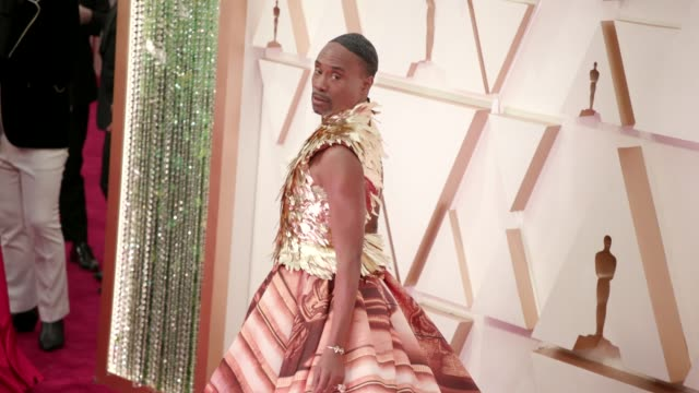 billy porter at the 92nd annual academy awards at dolby theatre on february 09 2020 in hollywood california - academy awards stock videos & royalty-free footage