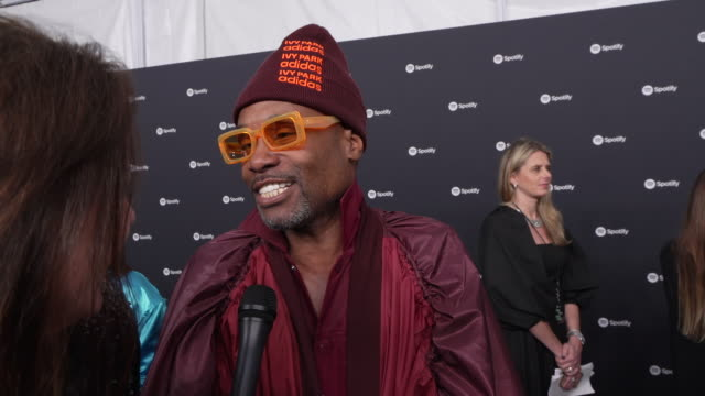 billy porter at the spotify best new artist 2020 party at the lot studios on january 23, 2020 in los angeles, california. - spotify stock videos & royalty-free footage