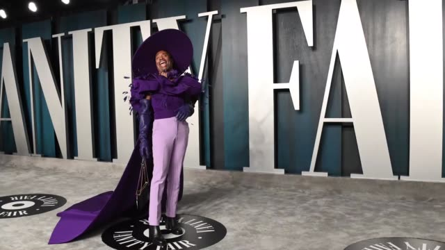 billy porter attends the 2020 vanity fair oscar party hosted by radhika jones at wallis annenberg center for the performing arts on february 09 2020... - after party stock videos & royalty-free footage