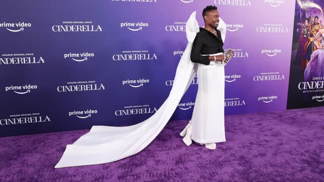 """stockvideo's en b-roll-footage met billy porter attends the los angeles premiere of amazon studios' """"cinderella""""at the greek theatre on august 30, 2021 in los angeles, california. - première"""