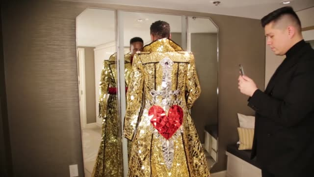 billy porter gets ready for the 92nd academy awards on february 09, 2020 in los angeles, california. - academy of motion picture arts and sciences stock videos & royalty-free footage