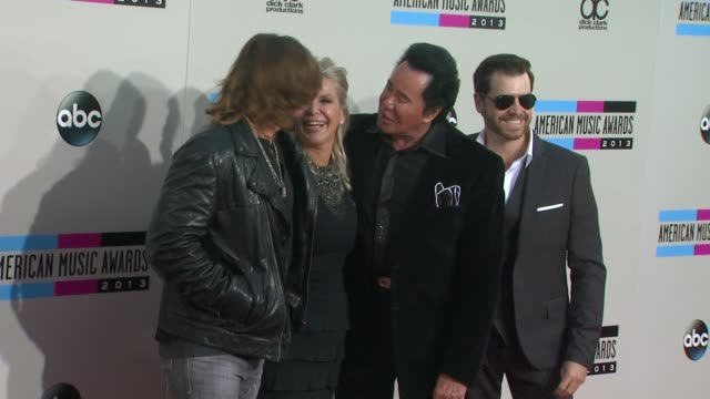billy ray cyrus, kathleen mccrone, wayne newton at 2013 american music awards - arrivals in los angeles, ca 11/24/13 - wayne newton stock videos & royalty-free footage
