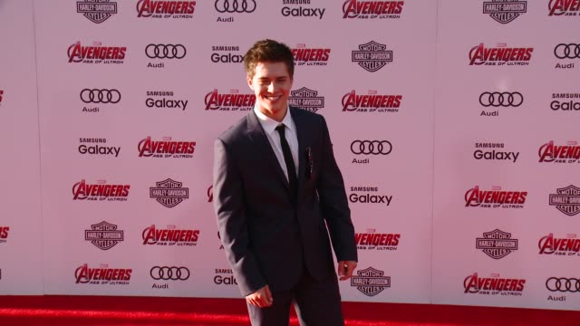 """billy unger at the world premiere of marvel's """"avengers: age of ultron"""" at dolby theatre on april 13, 2015 in hollywood, california. - the dolby theatre stock videos & royalty-free footage"""