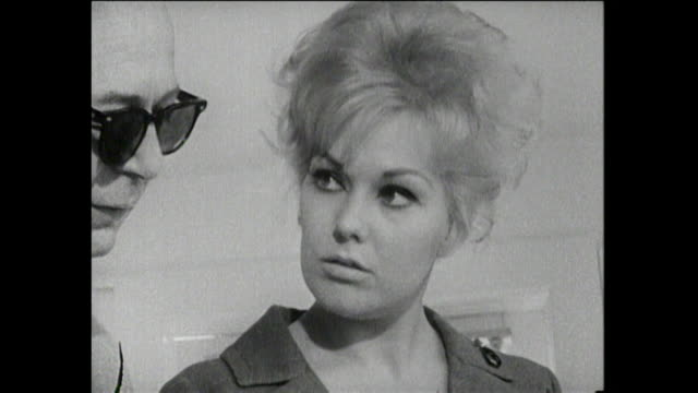 "billy wilder and kim novak at a studio samuel ""billy"" wilder was a polish-born jewish-american filmmaker, screenwriter, producer, artist, and... - scriptwriter stock videos & royalty-free footage"