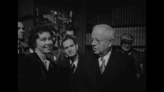 billy wilder, movieõs director, with back to camera talks to king and queen on set, william holden and y frank freeman look on / holden shakes hands... - audrey hepburn stock videos & royalty-free footage
