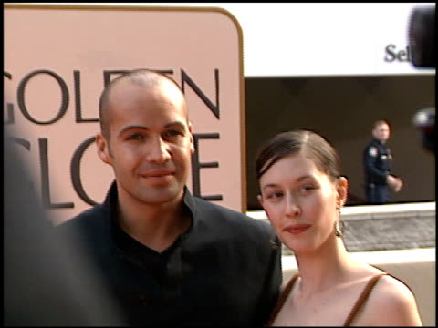 billy zane at the 1998 golden globe awards at the beverly hilton in beverly hills, california on january 18, 1998. - golden globe awards stock videos & royalty-free footage
