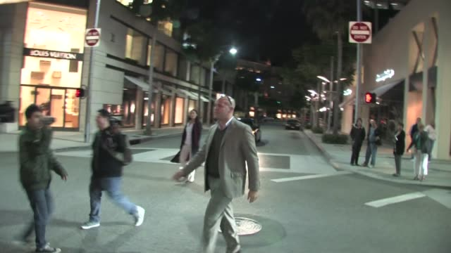 billy zane leaving rimowa rodeo drive store opening in beverly hills - store opening stock videos & royalty-free footage