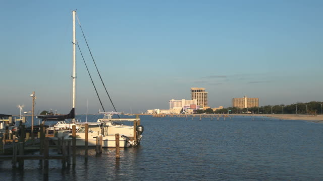 biloxi - bay of water stock-videos und b-roll-filmmaterial