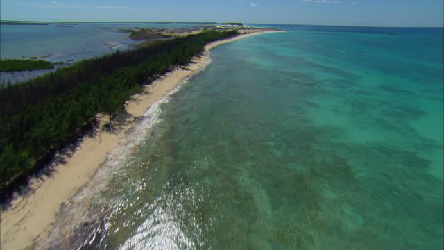LOW AERIAL Bimini Bay Beach Resort, Bimini island, Bahamas