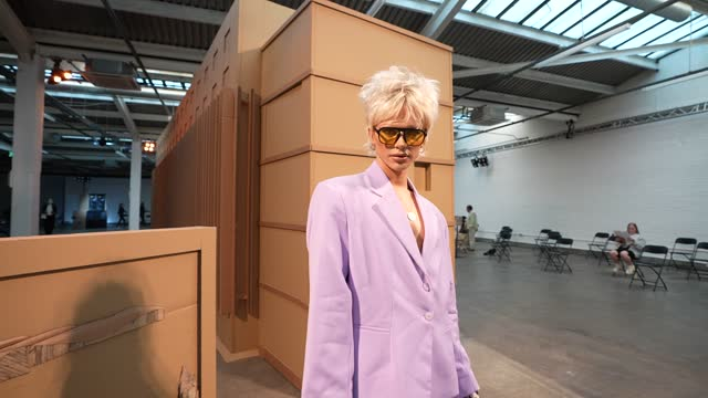 bimini bon boulash attends the reuben selby show during london fashion week june 2021 on june 12, 2021 in london, england. - bimini stock videos & royalty-free footage