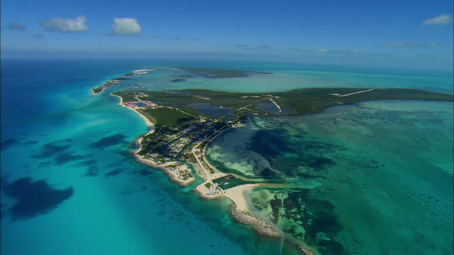 aerial bimini island, bahamas - bahamas stock videos and b-roll footage