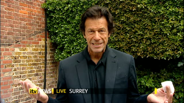 bin laden 'revenge' suicide attack on military academy england london imran khan 2 way interview from surrey sot - military attack stock videos and b-roll footage