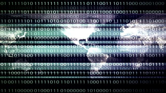 stockvideo's en b-roll-footage met binaire code abstracte achtergrond - vachtpatroon