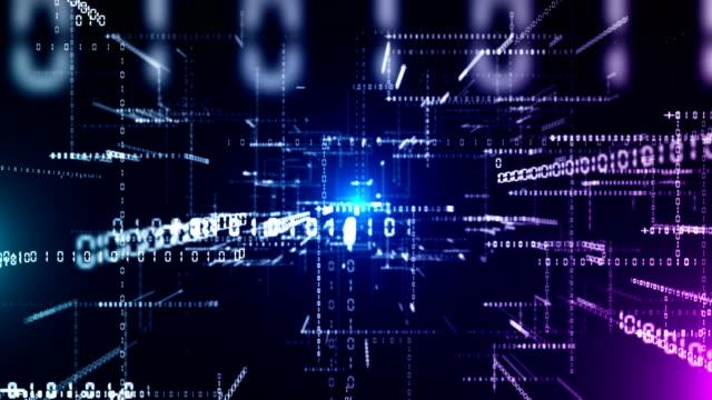 binärcode abstrakter hintergrund - computersprache stock-videos und b-roll-filmmaterial