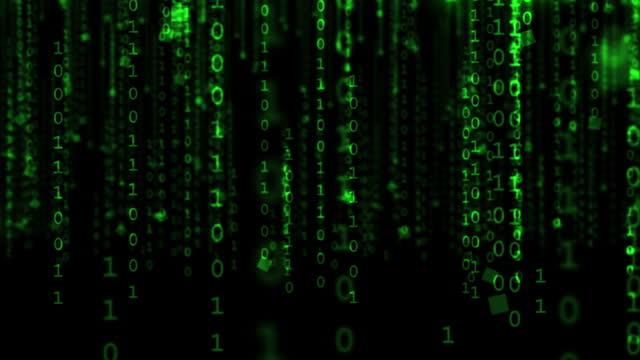binärcode animation - 4k loopable - null stock-videos und b-roll-filmmaterial