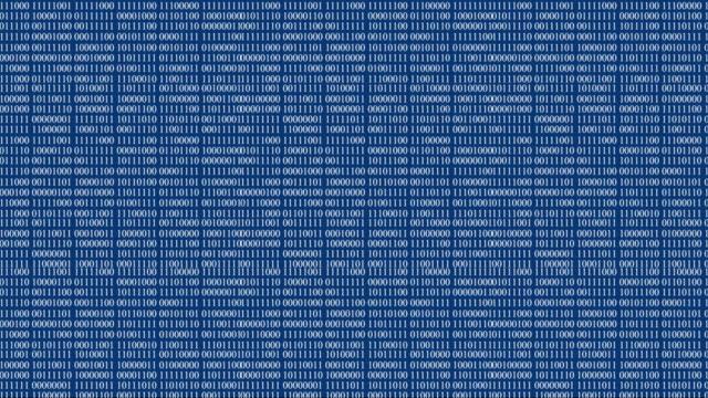 4k binary code animation - blauer hintergrund  loopable - null stock-videos und b-roll-filmmaterial