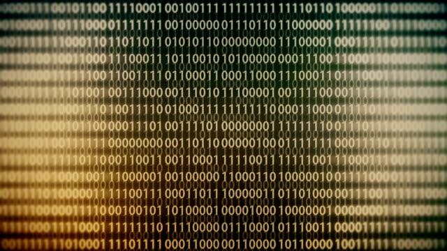 Binary code animation loop