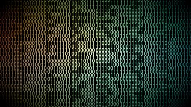 binär-code animationsschleife - einzelner gegenstand stock-videos und b-roll-filmmaterial