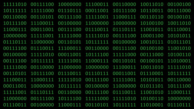 binary code - black and green. changing digits 0 and 1 on the screen. data code. encoding. row matrix. 4k video animation loopable - digital animation stock videos & royalty-free footage
