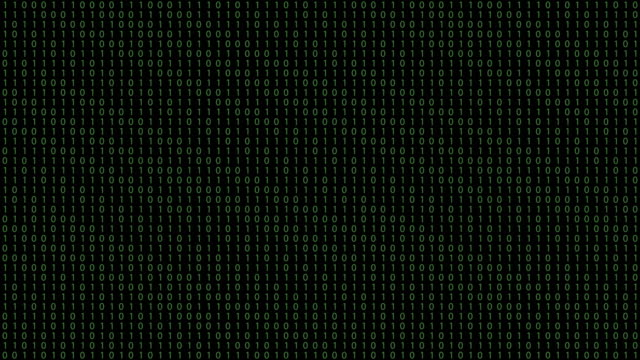 binary code black background with green digits moving on screen - bit binary stock videos & royalty-free footage