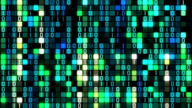 バイナリ コード データ転送、ai、クラウド ・ コンピューティング - 文字点の映像素材/bロール