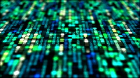 binär-code datenübertragung, ai, cloud-computing - image stock-videos und b-roll-filmmaterial