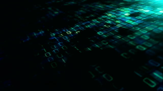 binär-code datenübertragung, ai, cloud-computing - netzwerksicherheit stock-videos und b-roll-filmmaterial