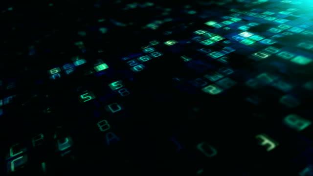 binär-code datenübertragung, ai, cloud-computing - binärcode stock-videos und b-roll-filmmaterial