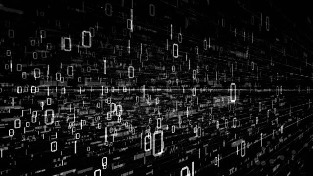 binary code  data transfer, ai, cloud computing - code talker stock videos & royalty-free footage