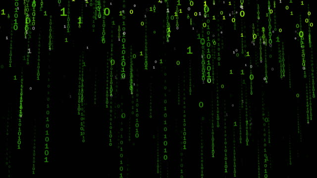 Binary Code Falling Numbers