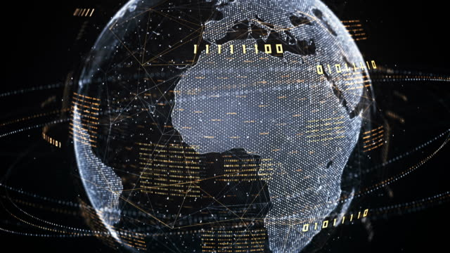 binary code globe (gold, silver) - loop - bit binary stock videos & royalty-free footage