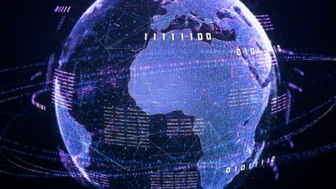 vídeos y material grabado en eventos de stock de código binario globo (violeta) - lazo - equipo informático