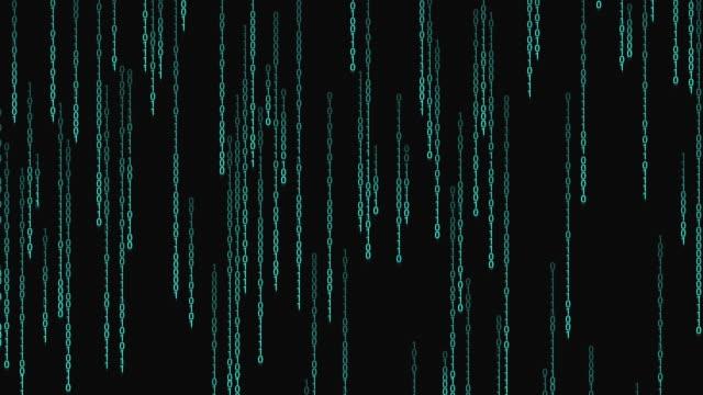 binärcode, der den hintergrund übergibt - bekommen stock-videos und b-roll-filmmaterial