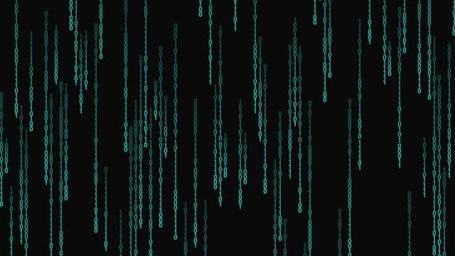 vídeos de stock e filmes b-roll de binary code passing - hacker