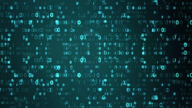 バイナリコードターコイズ - インターセプト点の映像素材/bロール