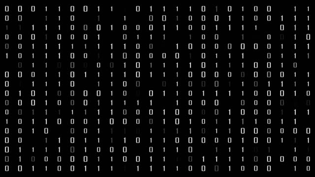 binary code - number 1 stock videos & royalty-free footage