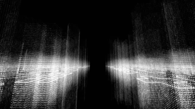 vídeos de stock e filmes b-roll de binary code - código binário