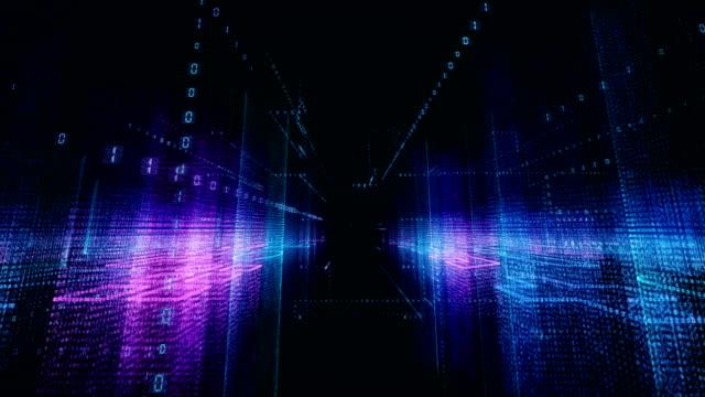 binary code - labirinto video stock e b–roll