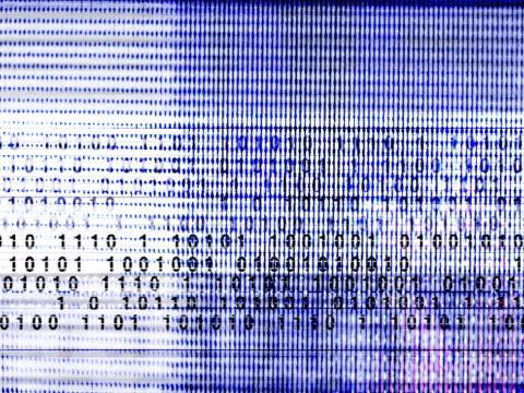 binary code - l'uomo e la macchina video stock e b–roll