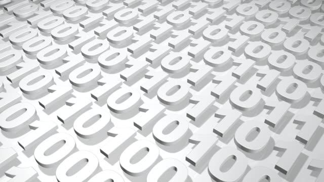 stockvideo's en b-roll-footage met binary codes - number 1